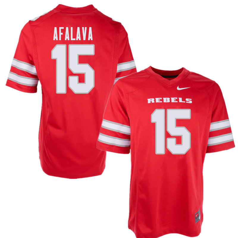 Men's UNLV Rebels #15 Soli Afalava College Football Jerseys Sale-Red